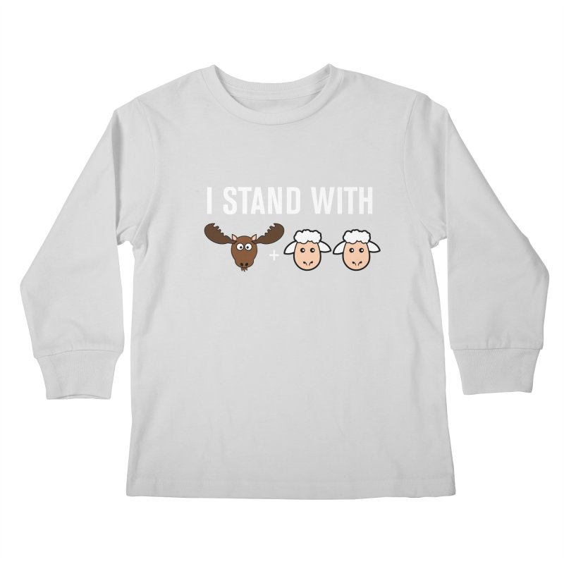 I STAND WITH MOOSE LAMBS Kids Longsleeve T-Shirt by sidroos's store