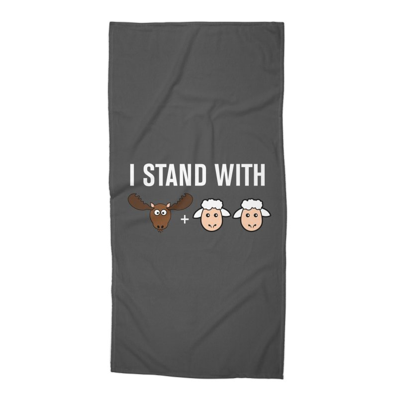 I STAND WITH MOOSE LAMBS Accessories Beach Towel by sidroos's store