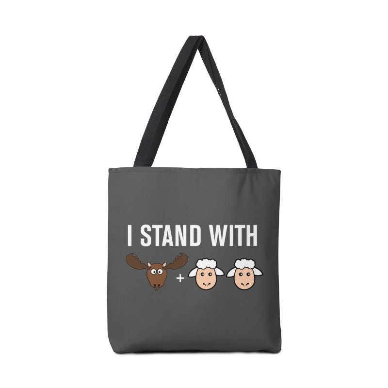 I STAND WITH MOOSE LAMBS Accessories Bag by sidroos's store