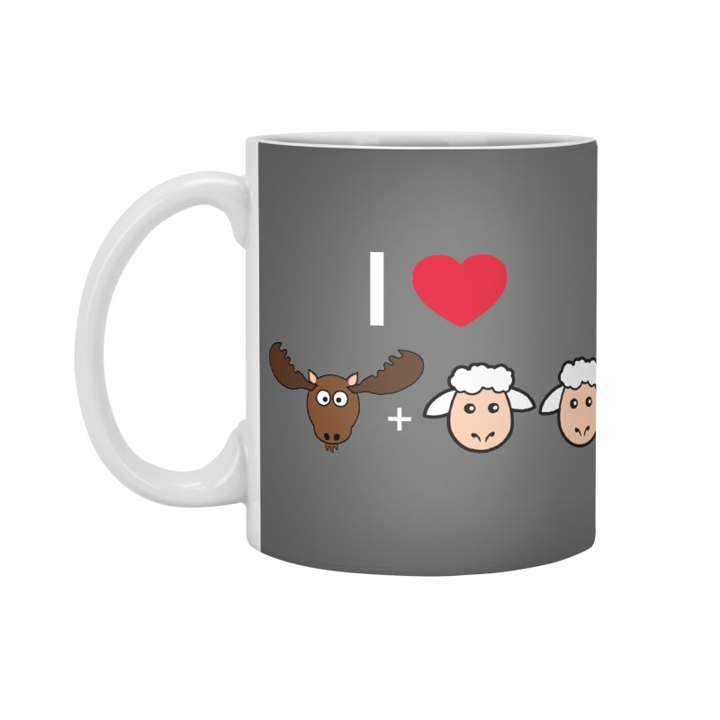 I LOVE MOOSE LAMBS Accessories Mug by sidroos's store