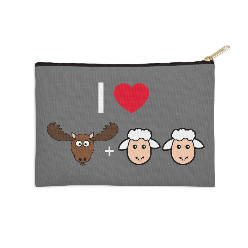I LOVE MOOSE LAMBS Accessories Zip Pouch by sidroos's store