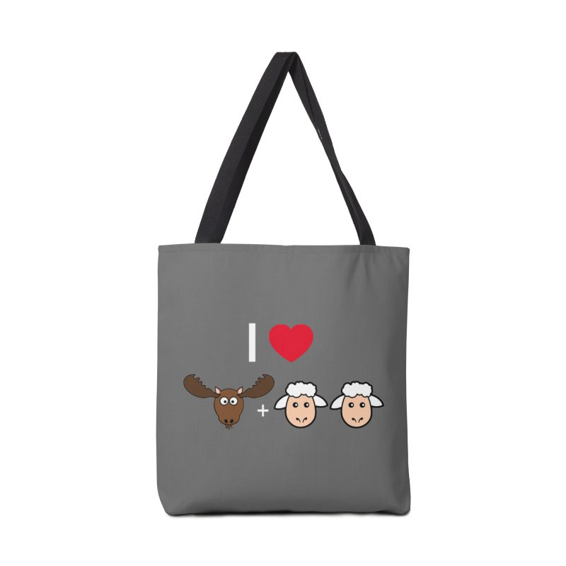 I LOVE MOOSE LAMBS Accessories Tote Bag Bag by sidroos's store