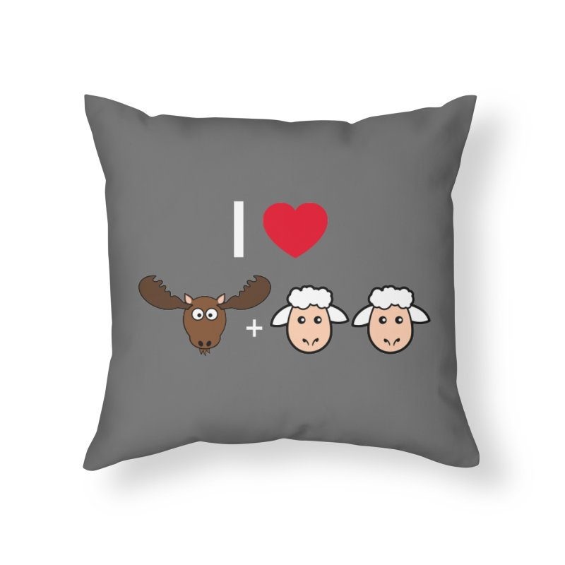 I LOVE MOOSE LAMBS Home Throw Pillow by sidroos's store