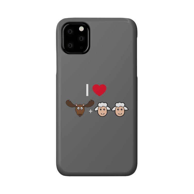 I LOVE MOOSE LAMBS Accessories Phone Case by sidroos's store