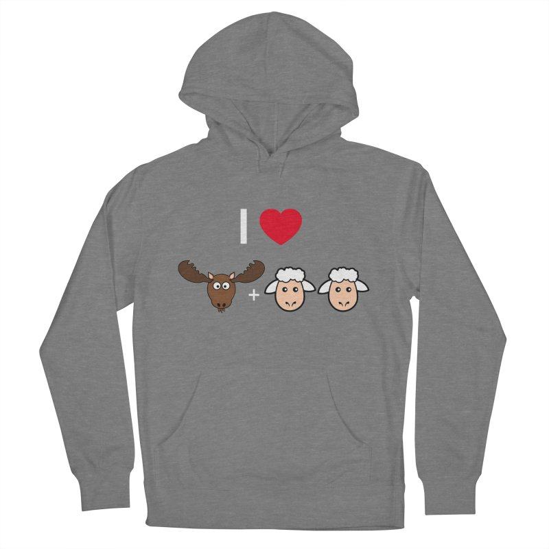 I LOVE MOOSE LAMBS Women's French Terry Pullover Hoody by sidroos's store