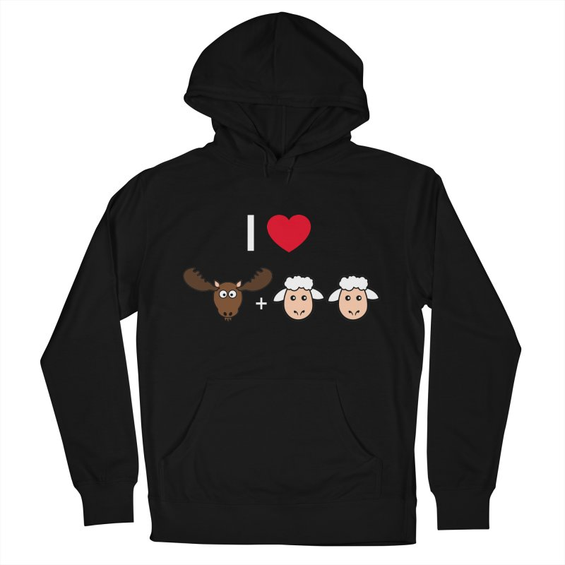 I LOVE MOOSE LAMBS Women's Pullover Hoody by sidroos's store