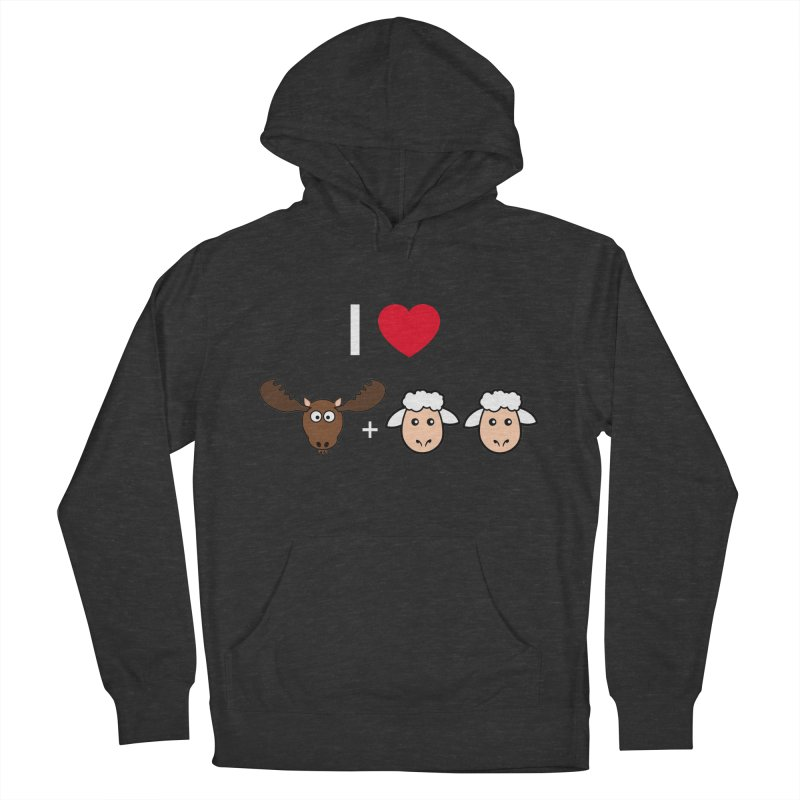 I LOVE MOOSE LAMBS Men's French Terry Pullover Hoody by sidroos's store