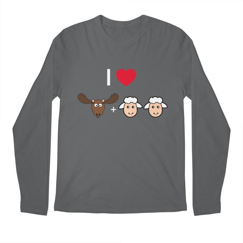 I LOVE MOOSE LAMBS Men's Longsleeve T-Shirt by sidroos's store