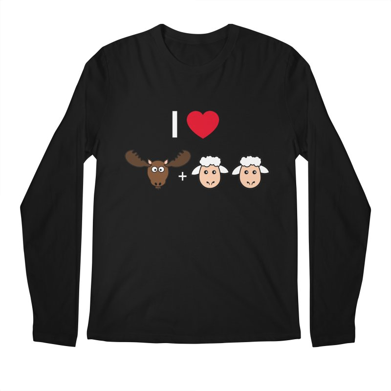 I LOVE MOOSE LAMBS Men's Longsleeve T-Shirt by sidroos's store