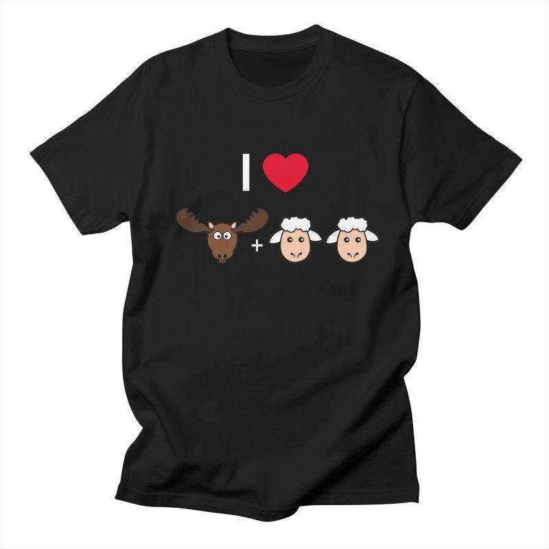 I LOVE MOOSE LAMBS Men's Regular T-Shirt by sidroos's store