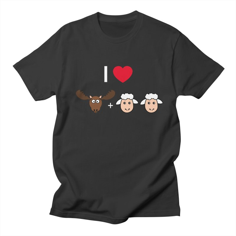 I LOVE MOOSE LAMBS Men's Regular T-Shirt by sidroos's store