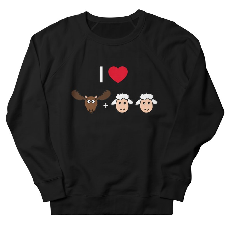 I LOVE MOOSE LAMBS Women's Sweatshirt by sidroos's store