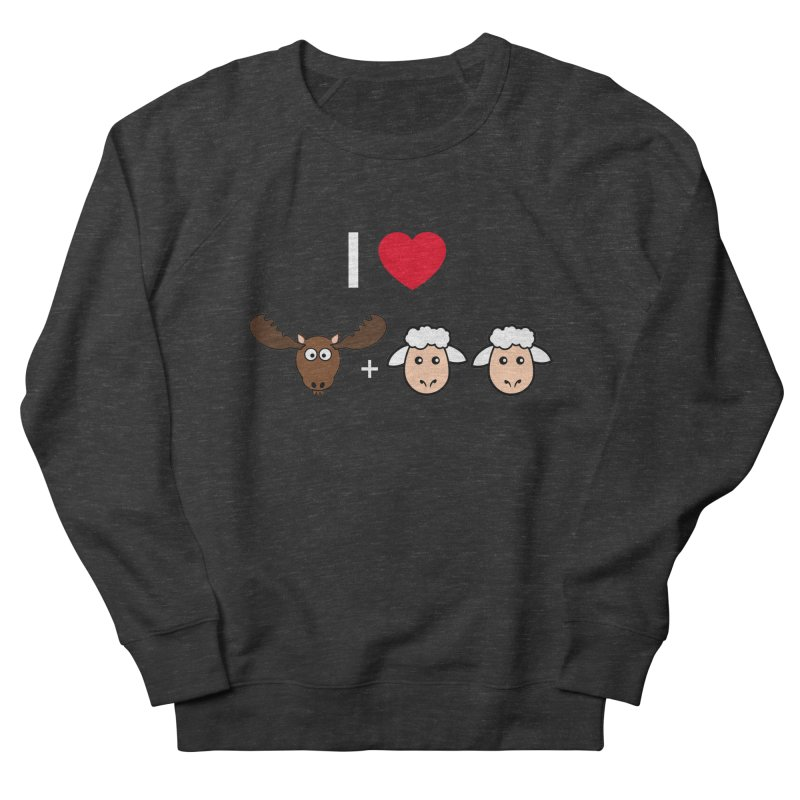 I LOVE MOOSE LAMBS Men's French Terry Sweatshirt by sidroos's store