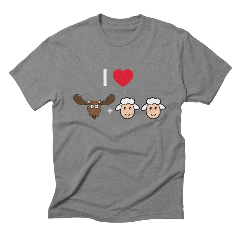 I LOVE MOOSE LAMBS Men's Triblend T-shirt by sidroos's store