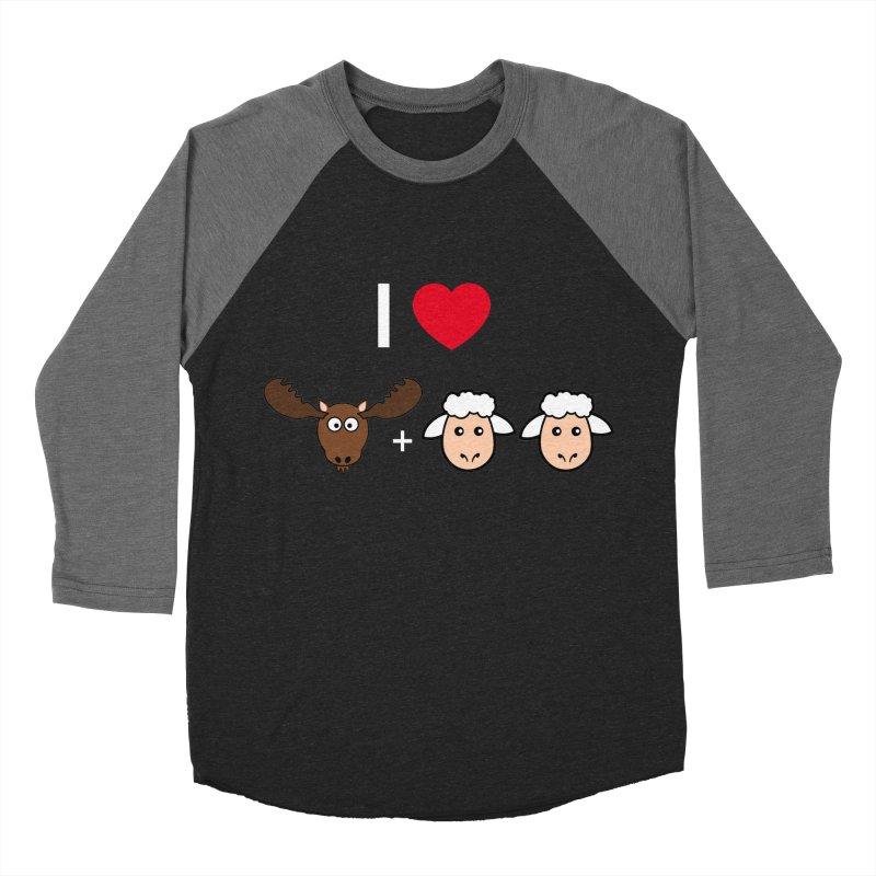 I LOVE MOOSE LAMBS Women's Baseball Triblend T-Shirt by sidroos's store
