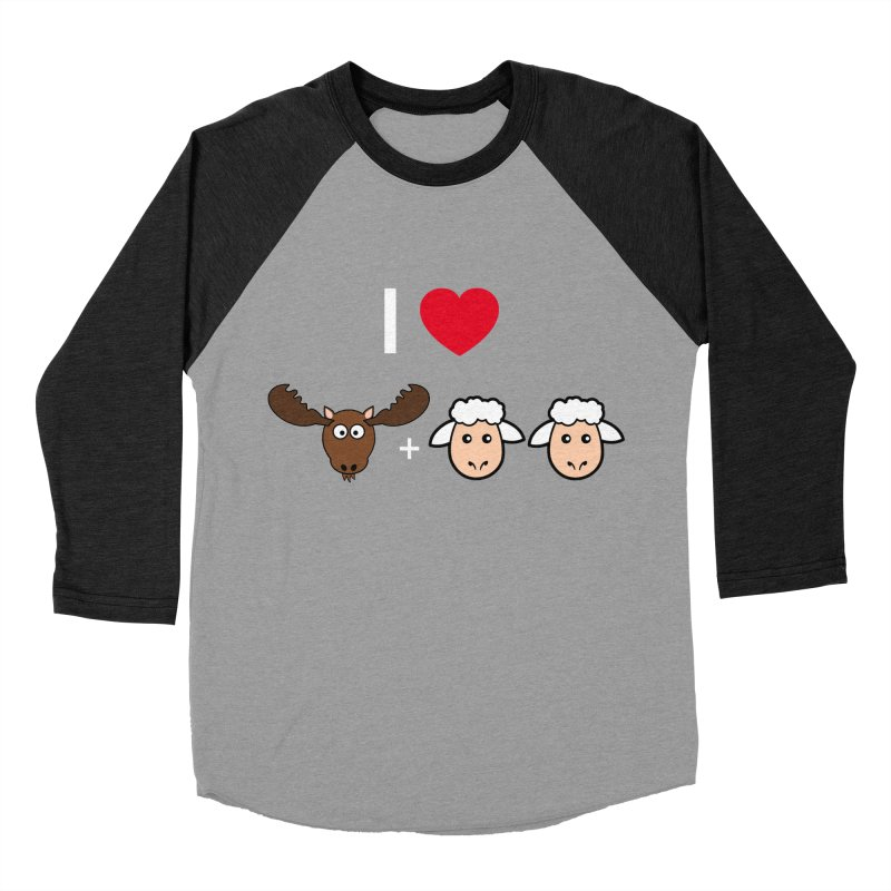 I LOVE MOOSE LAMBS Women's Baseball Triblend Longsleeve T-Shirt by sidroos's store