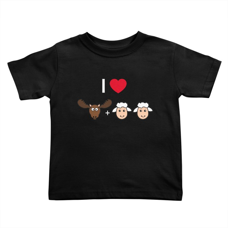 I LOVE MOOSE LAMBS Kids Toddler T-Shirt by sidroos's store