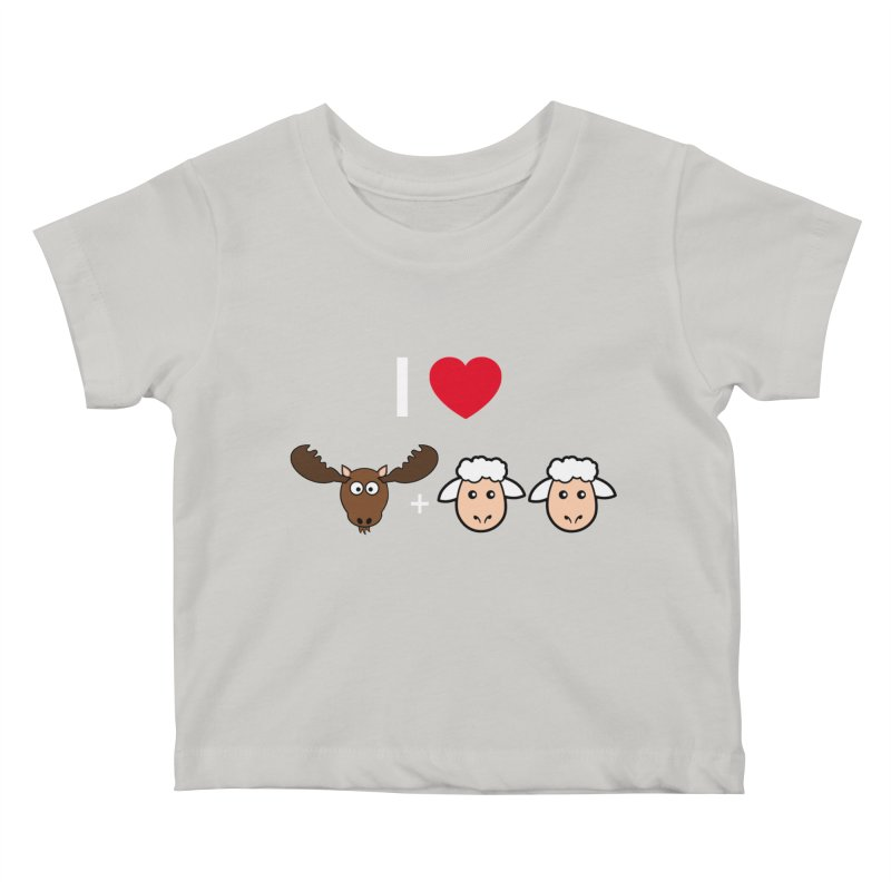 I LOVE MOOSE LAMBS Kids Baby T-Shirt by sidroos's store