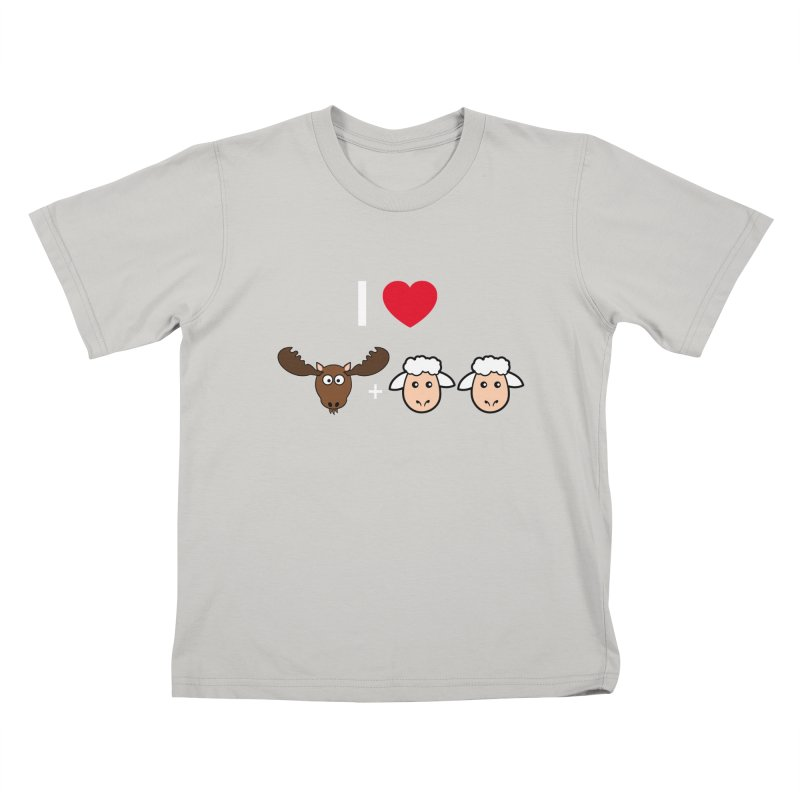 I LOVE MOOSE LAMBS Kids T-shirt by sidroos's store