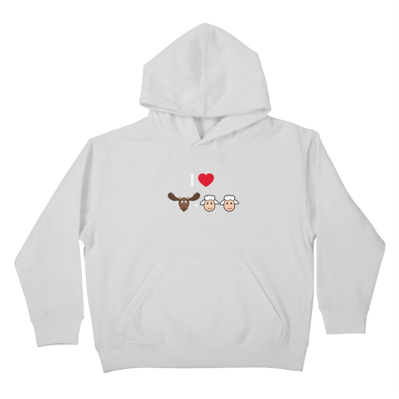 I LOVE MOOSE LAMBS Kids Pullover Hoody by sidroos's store