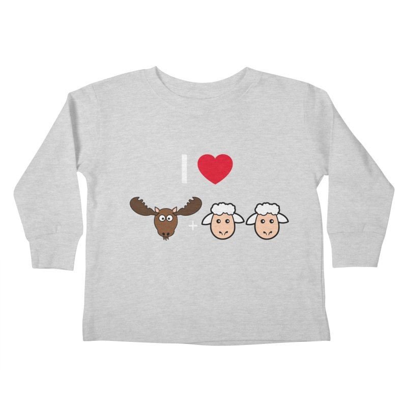 I LOVE MOOSE LAMBS Kids Toddler Longsleeve T-Shirt by sidroos's store