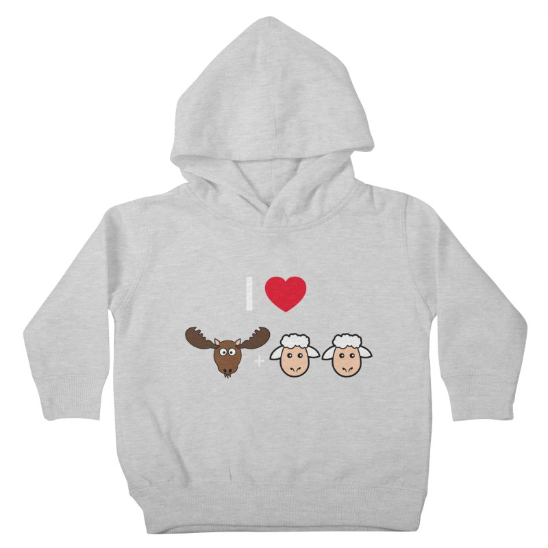 I LOVE MOOSE LAMBS Kids Toddler Pullover Hoody by sidroos's store