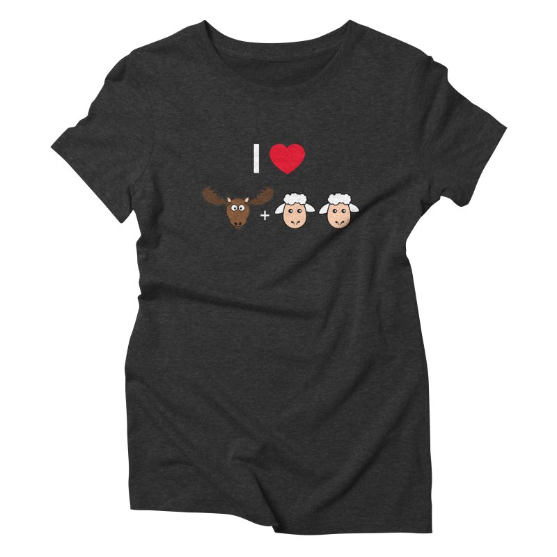 I LOVE MOOSE LAMBS Women's Triblend T-Shirt by sidroos's store
