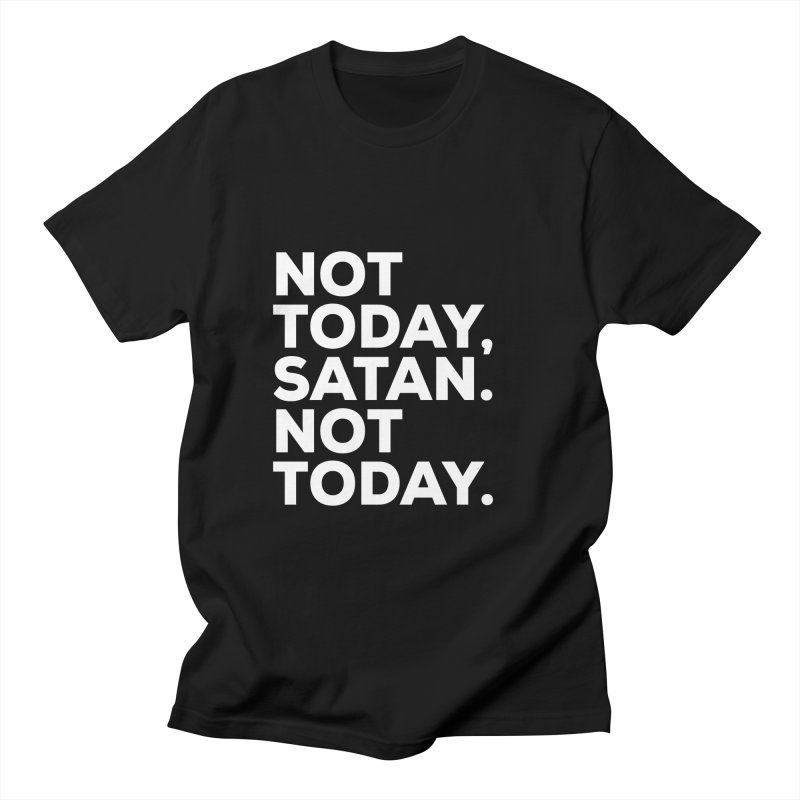 Not Today Satan - white text Men's T-Shirt by sidroos's store