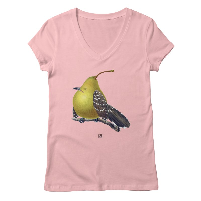 The Pear-rot Women's V-Neck by sigmablade collage