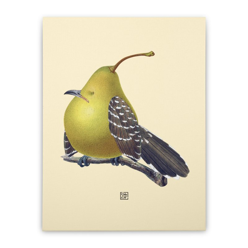 The Pear-rot Home Stretched Canvas by sigmablade collage