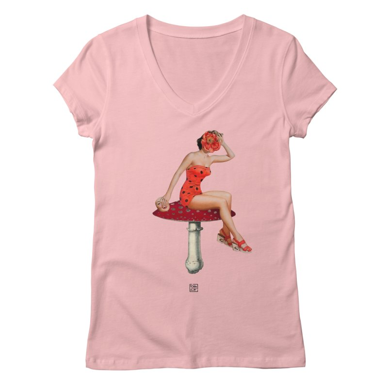 Beautiful Inside Out Women's V-Neck by sigmablade collage