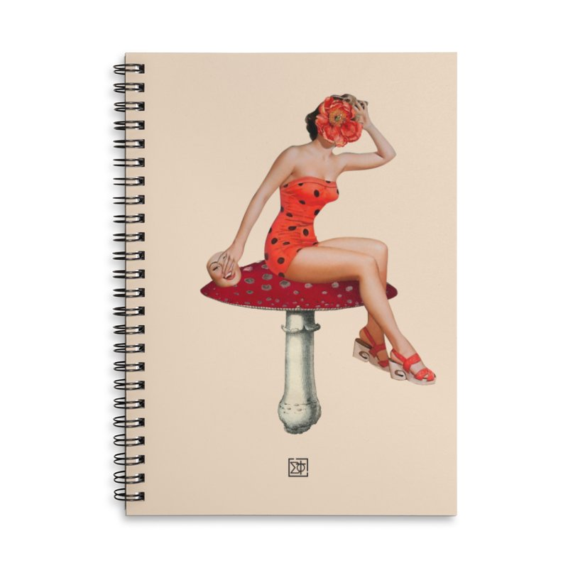 Beautiful Inside Out Accessories Lined Spiral Notebook by sigmablade collage