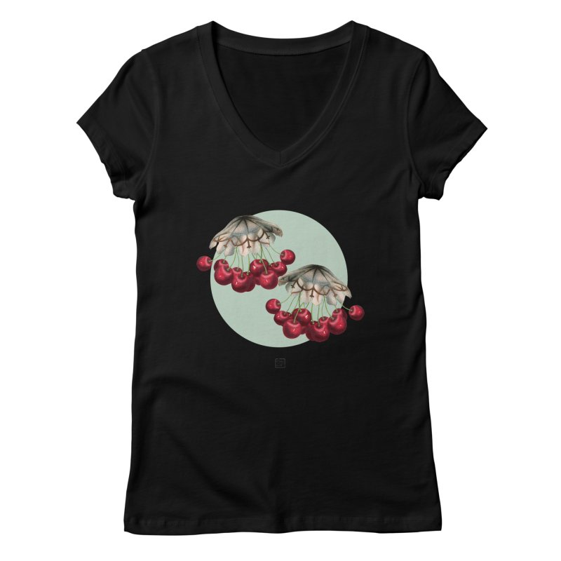 Cherryfish Women's V-Neck by sigmablade collage