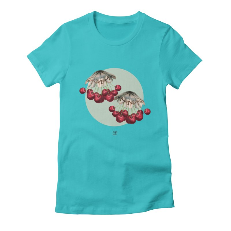 Cherryfish Women's Fitted T-Shirt by sigmablade collage
