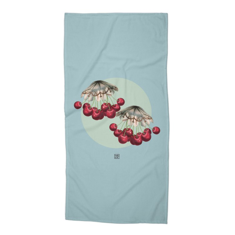 Cherryfish Accessories Beach Towel by sigmablade collage