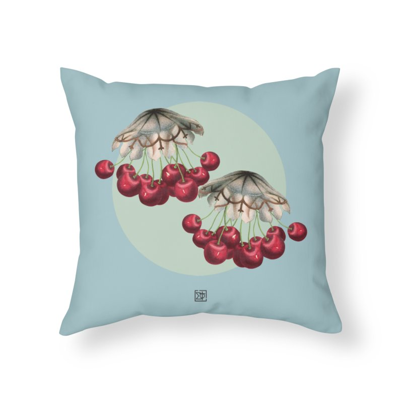 Cherryfish Home Throw Pillow by sigmablade collage