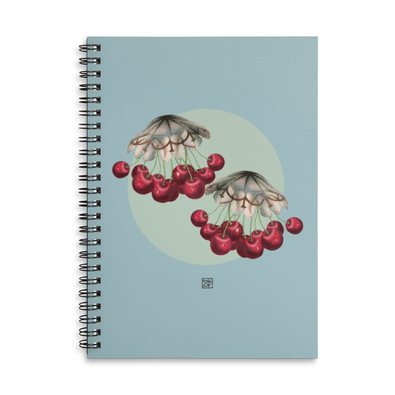 Cherryfish Accessories Lined Spiral Notebook by sigmablade collage