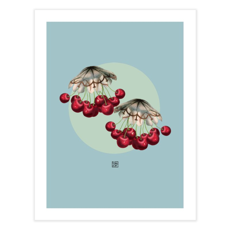 Cherryfish Home Fine Art Print by sigmablade collage