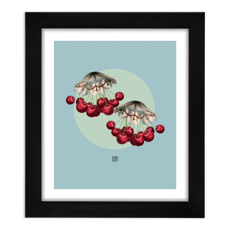 Cherryfish Home Framed Fine Art Print by sigmablade collage