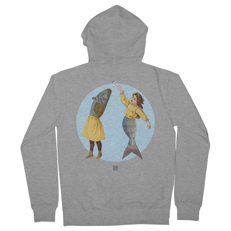 Mer...maid? Men's French Terry Zip-Up Hoody by sigmablade collage