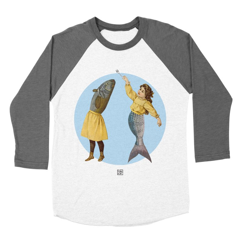 Mer...maid? Women's Baseball Triblend Longsleeve T-Shirt by sigmablade collage