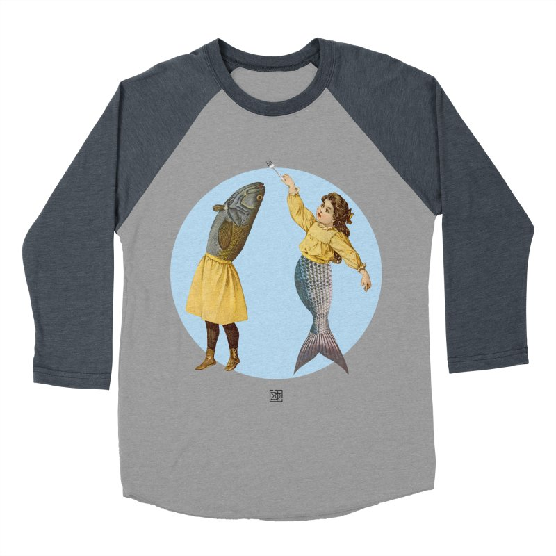 Mer...maid? Men's Baseball Triblend Longsleeve T-Shirt by sigmablade collage