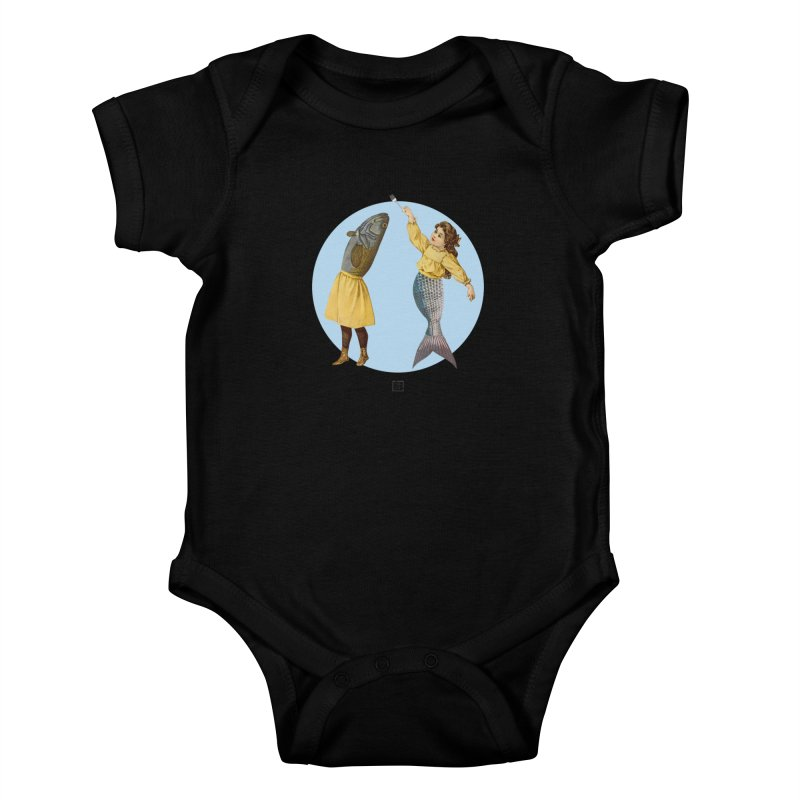 Mer...maid? Kids Baby Bodysuit by sigmablade collage
