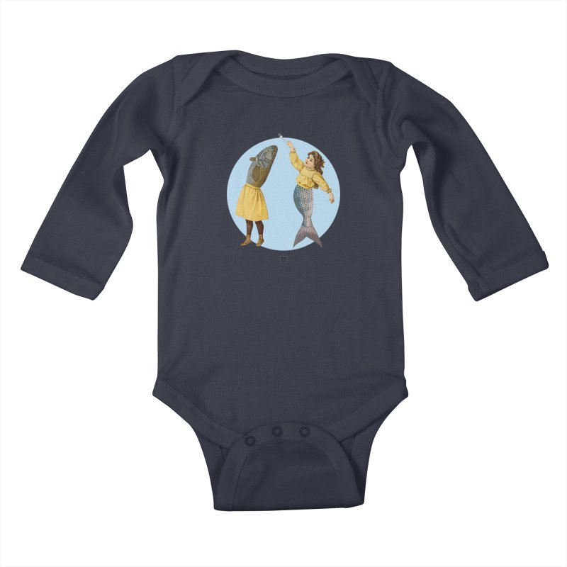 Mer...maid? Kids Baby Longsleeve Bodysuit by sigmablade collage