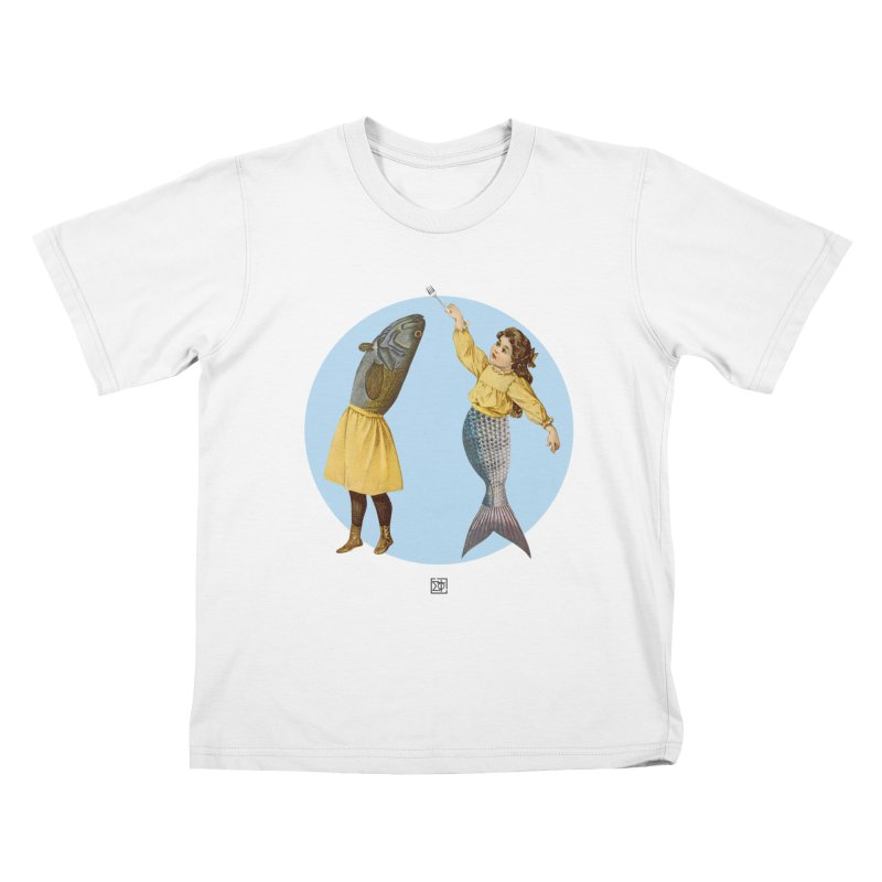 Mer...maid? Kids T-Shirt by sigmablade collage