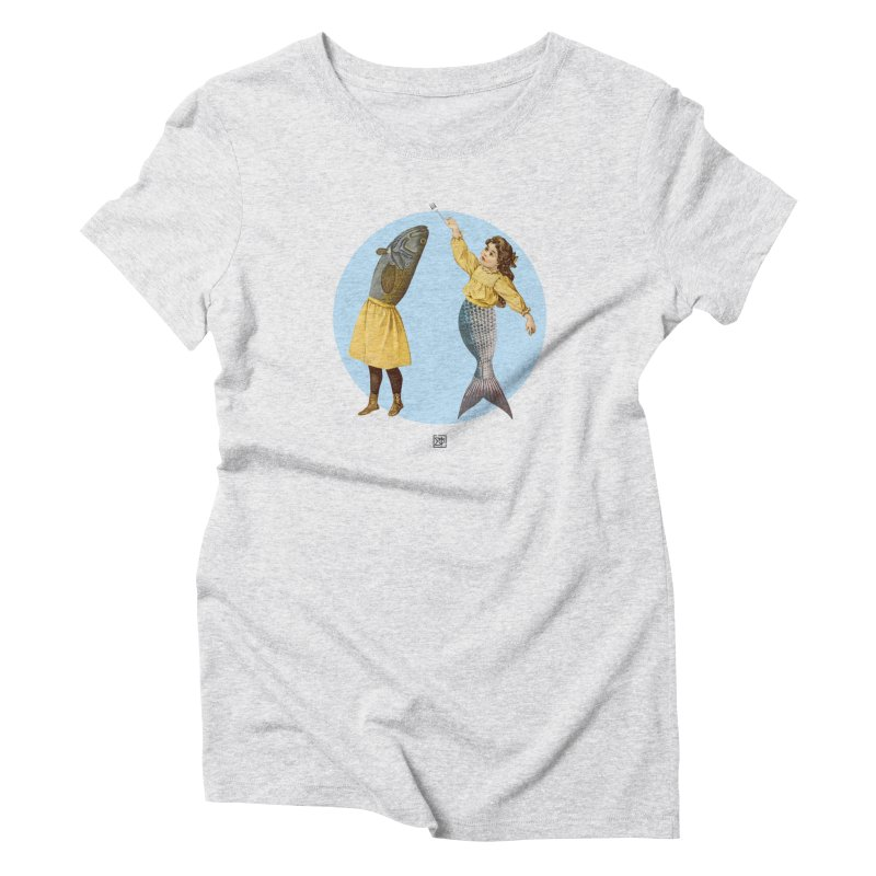 Mer...maid? Women's T-Shirt by sigmablade collage