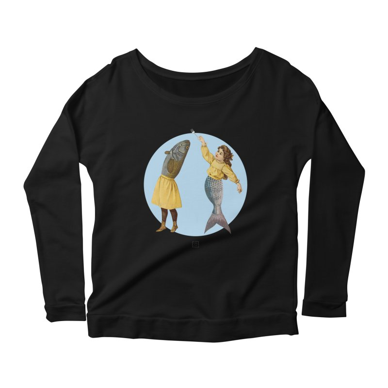 Mer...maid? Women's Scoop Neck Longsleeve T-Shirt by sigmablade collage