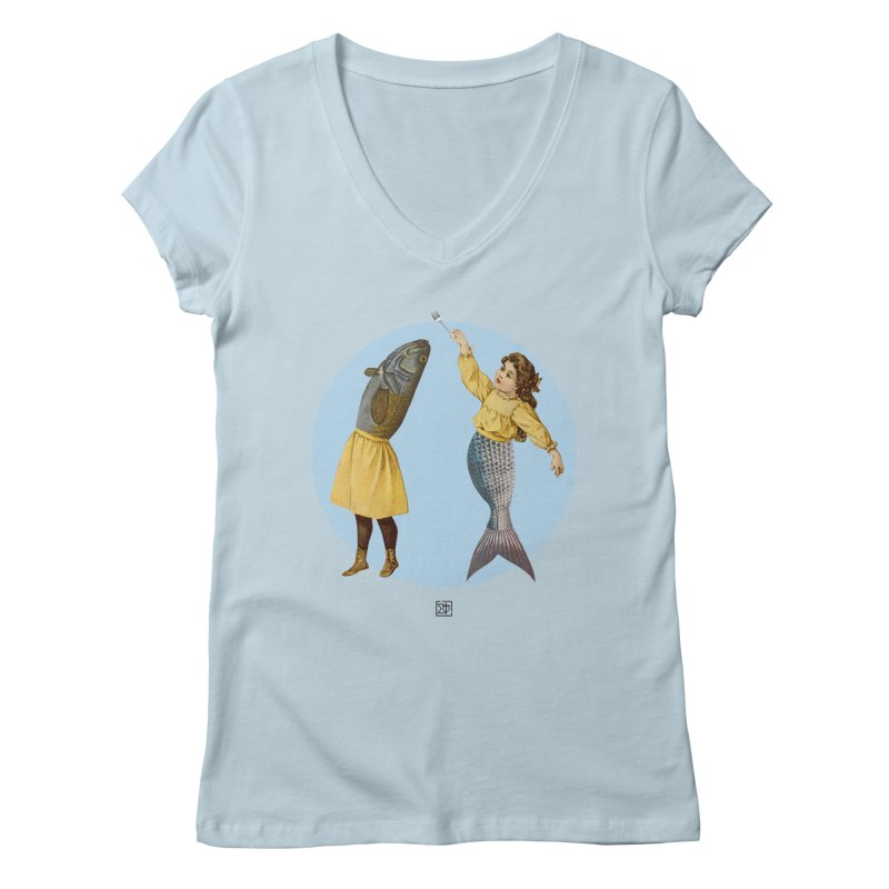 Mer...maid? Women's V-Neck by sigmablade collage