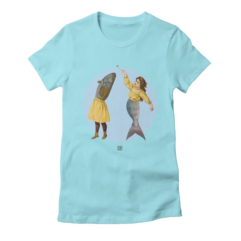 Mer...maid? Women's Fitted T-Shirt by sigmablade collage