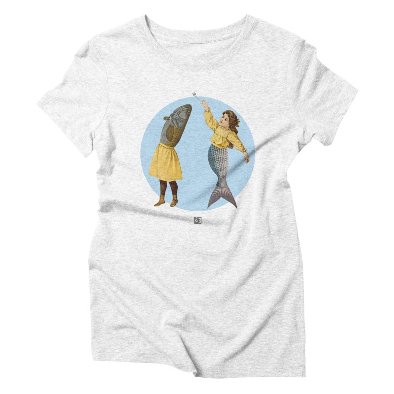 Mer...maid? Women's Triblend T-shirt by sigmablade collage